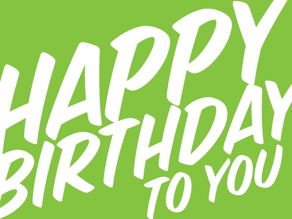 HappyBirthdayToYou_Green