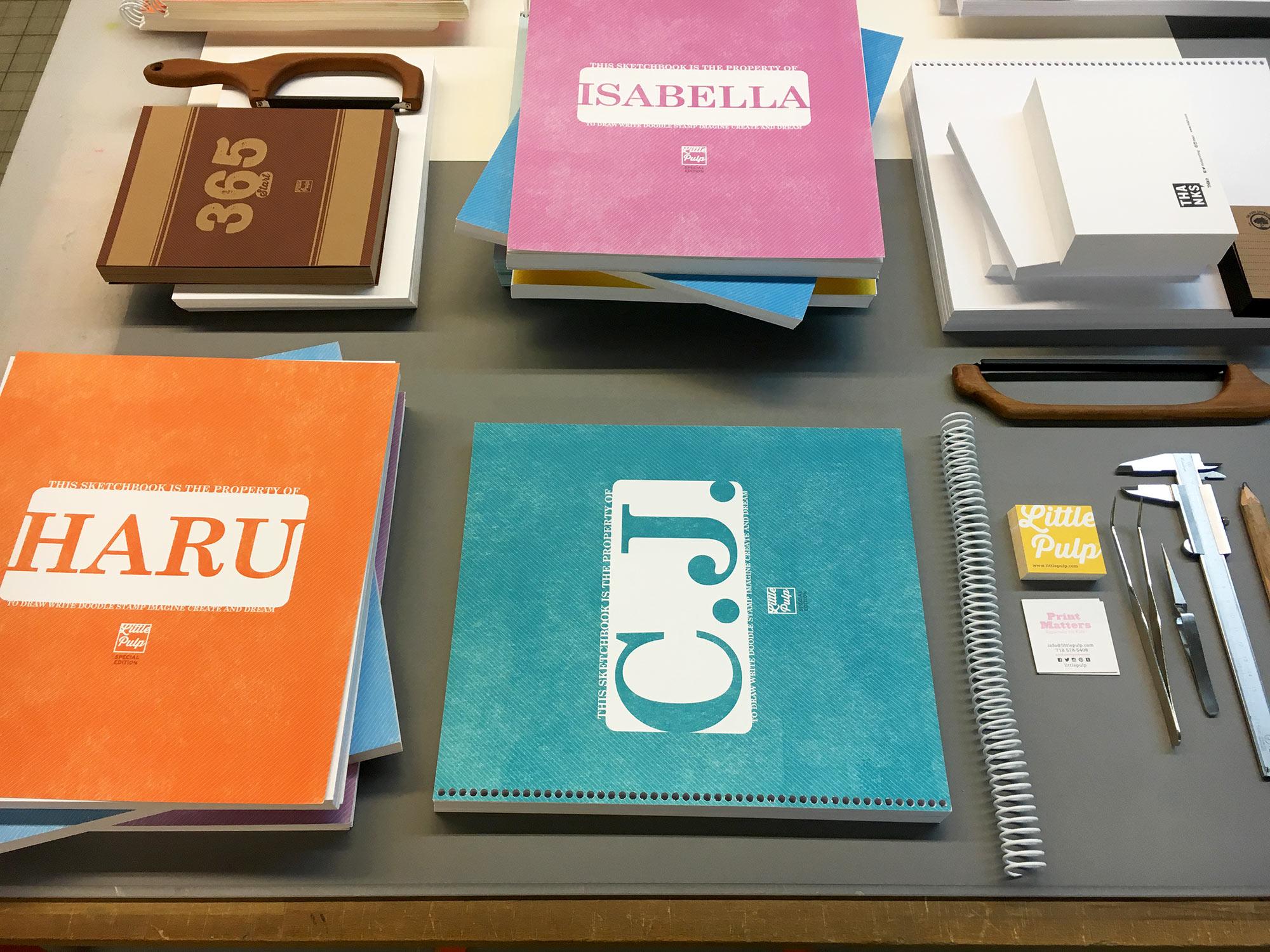 custom sketchbooks